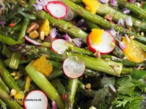 Asparagus salad at Riverord Organics