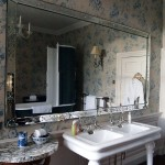 Bathroom reflection at Balfour Castle
