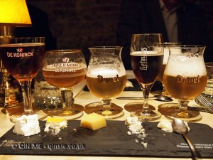 Beer and cheese matching, Antwerp, Belgium