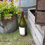 Bottle with wooden crates at Cloudy Bay Crab Shack with Skye Gyngell