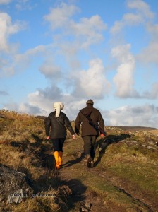 Charlotte Lynham and Simon Wilkins walking in Cornwall