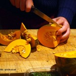 Chopping squash in Cornwall