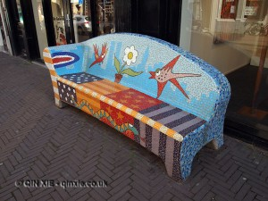 Colourful bench, The Hague