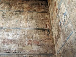 Colourful hieroglyph, Luxor Temple, Luxor