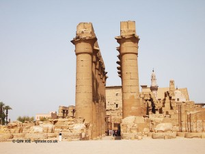 Columns at gate, Luxor Temple, Luxor