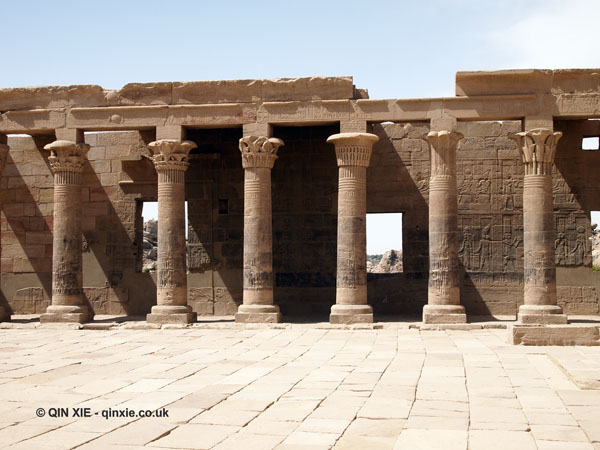 Columns, Philae Temple, Lake Nasser