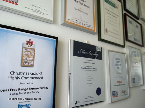 Copas awards at Copas farm