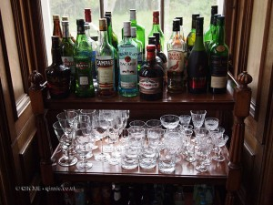 Drinks cabinet at Balfour Castle
