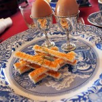 Egg stacked soldiers at Balfour Castle