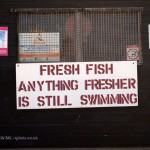 Fresh fish sign in Aldeburgh, Suffolk