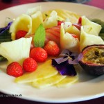 Fruit platter at Balfour Castle