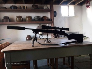 Gun on table in Cornwall
