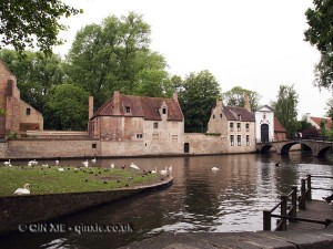 Houses by river, Bruges, Belgium