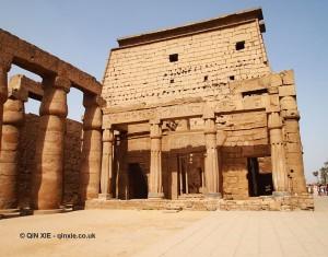 Inside gate, Luxor Temple, Luxor