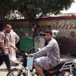 Man on moped, Edfu, Egypt