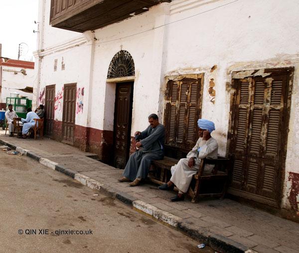 Men sitting, Edfu, Egypt
