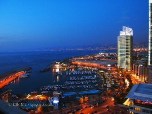 Night view, Beirut, Lebanon