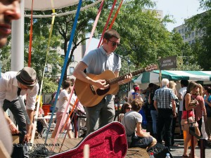 Outdoor music at Vintage Festival, Southbank