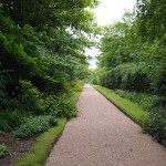 Path in garden at Balfour Castle