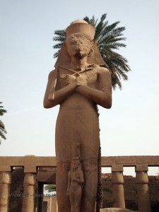 Pharoah statue, Karnak Temple, Luxor