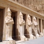 Pharaoh statues, Mortuary Temple of Hatshepsut, Luxor