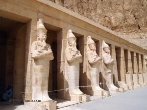 Pharaoh statues, Mortuary Temple of Hatshepsut, Luxor