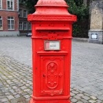 Post box, Bruges, Belgium