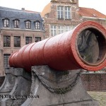 Red cannon, Ghent, Belgium
