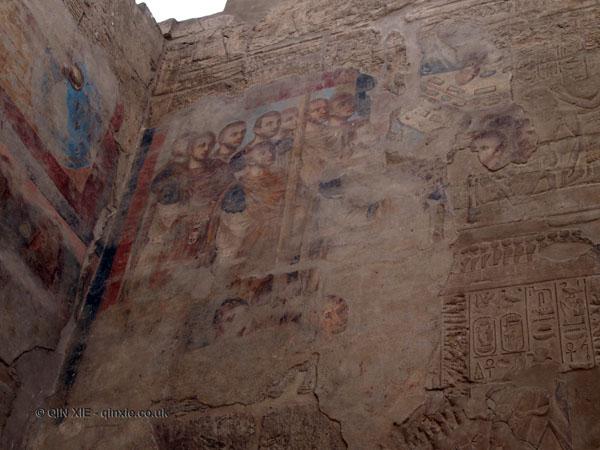 Roman mural, Luxor Temple, Luxor