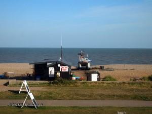 Seaside shack in Aldeburgh, Suffolk