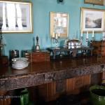 Serving table at Balfour Castle