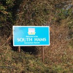South Hams sign in Cornwall
