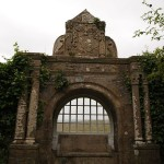 Stone gate at Balfour Castle