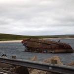 Sunken ship on Orkney