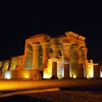 Temple at night, Ptolemic Temple, Kom Ombo