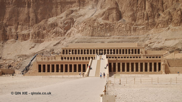 Temple facade, Mortuary Temple of Hatshepsut, Luxor