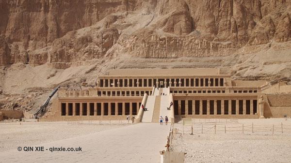 Temple facade, Mortuary Temple of Hatshepsut, Luxor