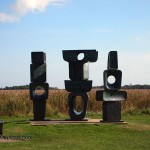 The family of man by Barbara Hepworth at Snape Malting in Aldeburgh, Suffolk