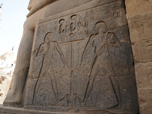Tying a knot, Luxor Temple, Luxor