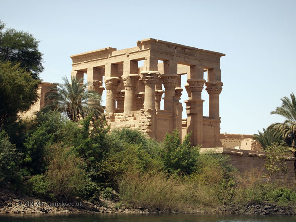 View from Lake Nasser, Philae Temple, Lake Nasser