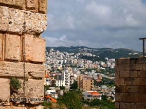 View to Beirut from Byblos, Lebanon
