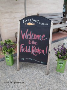 Welcome sign at Riverord Organics