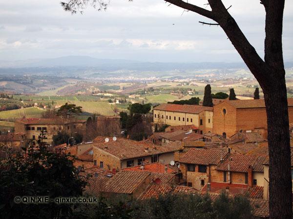 Rooftops, San Gimignano, Italy