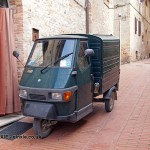 Three-wheel drive, San Gimignano, Italy