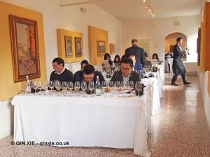 Wine tasting, San Gimignano, Italy