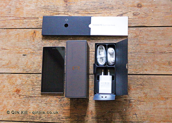 Huawei P8 phone and box