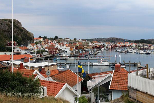 Harbour in Fjallbacka in Bohuslan, West Sweden