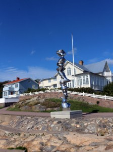 Sculpture on Marstrand in Bohuslan, West Sweden