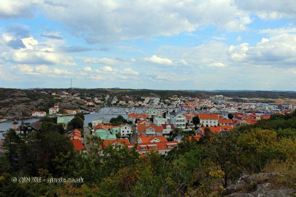 View over Marstrand in Bohuslan, West Sweden