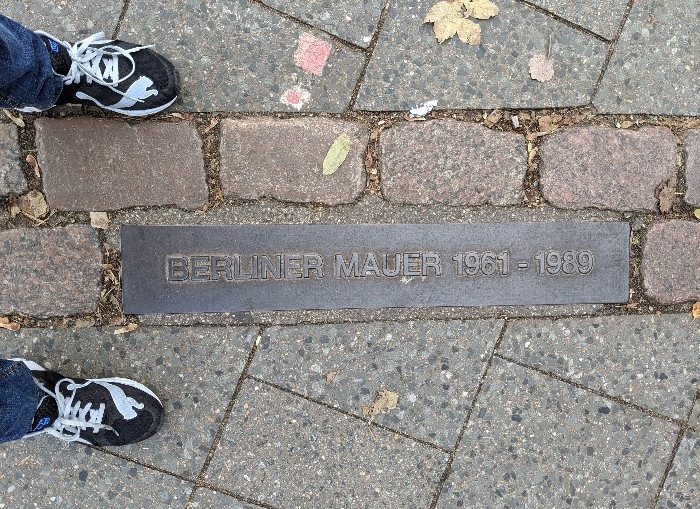 Berlin Wall marker